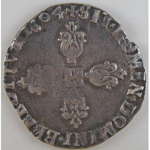 Photo numismatique Monnaies Royales Françaises HENRI IV (1589-1610) 1/2 Franc
