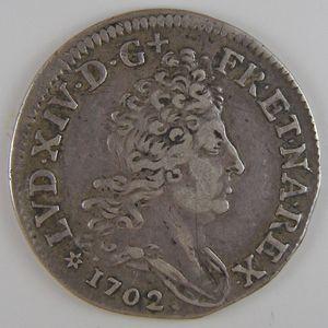 Photo numismatique Monnaies Royales Françaises LOUIS XIV (1643-1715) 10 sols aux 4 couronnes