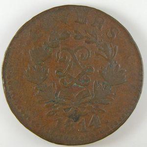 Photo numismatique Monnaies Françaises 5 Centimes Gadoury 131c. Louis XVIII