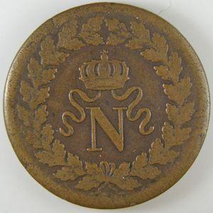 Photo numismatique Monnaies Françaises Décime Gadoury 195b. Décime Napoléon 1er