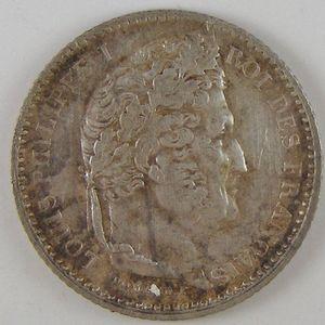 Photo numismatique Monnaies Françaises 25 Centimes Gadoury 357. Louis-Philippe I