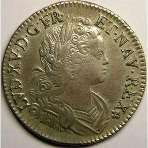 Photo numismatique Monnaies Royales Fran�aises LOUIS XV (1715-1774) Ecu de France-Navarre