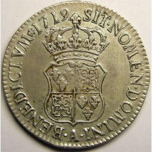 Photo numismatique Monnaies Royales Françaises LOUIS XV (1715-1774) Ecu de France-Navarre
