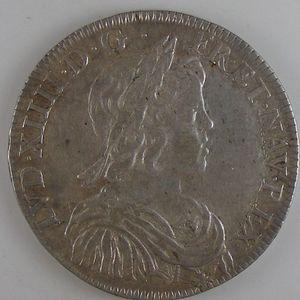 Photo numismatique Monnaies Royales Françaises LOUIS XIV (1643-1715) 1/2 Ecu à la mèche courte