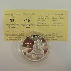 Photo numismatique Monnaies Françaises Monnaies commémoratives Gadoury C195. Lisbonne Tour de Belem