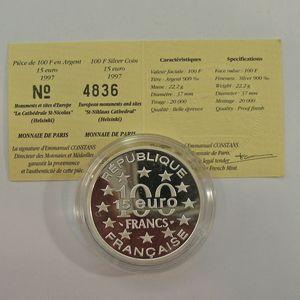 Photo numismatique Monnaies Françaises Monnaies commémoratives Gadoury C197. Helsinski Cathédrale Saint-Nicolas