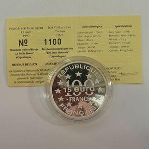 Photo numismatique Monnaies Françaises Monnaies commémoratives Gadoury C199. Copenhague Petite Sirène