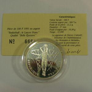 Photo numismatique Monnaies Françaises Monnaies commémoratives Gadoury C27. Lancer franc