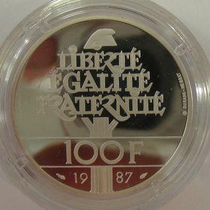 Photo numismatique Monnaies Françaises Pieforts 100 Francs La Fayette