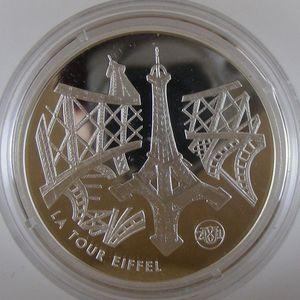 Photo numismatique Monnaies Françaises Monnaies commémoratives Gadoury C301. La Tour Eiffel