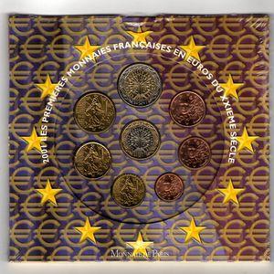 Photo numismatique Monnaies Euros France BU 2001