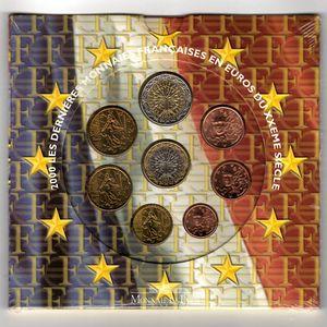 Photo numismatique Monnaies Euros France BU 2000