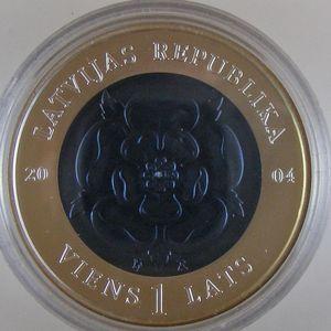 Photo numismatique Monnaies Etrangères Lettonie 1 Lats