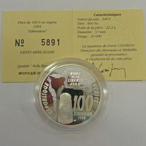 Photo numismatique Monnaies Françaises Monnaies commémoratives Gadoury C85. Sainte-Mère-Eglise