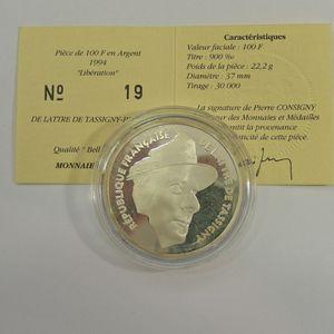 Photo numismatique Monnaies Françaises Monnaies commémoratives Gadoury C79. De Lattre de Tassigny