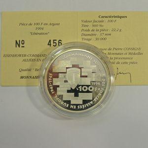 Photo numismatique Monnaies Françaises Monnaies commémoratives Gadoury C83. Dwight David Eisenhower