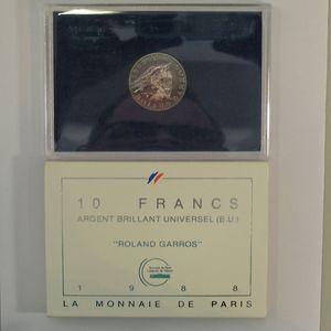 Photo numismatique Monnaies Françaises 10 Francs Gadoury 821. Roland Garros