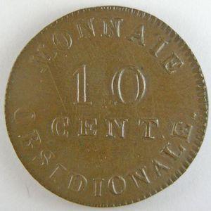 Photo numismatique Monnaies Françaises 10 Centimes Gadoury 191c. Napoléon Ier