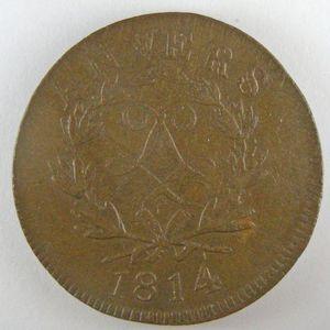 Photo numismatique Monnaies Françaises 10 Centimes Gadoury 193a Louis XVIII