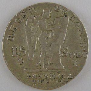 Photo numismatique Monnaies La Révolution 15 Sols Constitution (François)