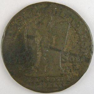 Photo numismatique Monnaies La Révolution 30 Sols Constitution Faux d'époque