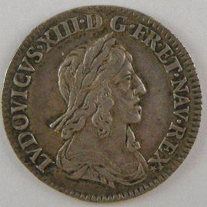 Photo numismatique Monnaies Royales Françaises LOUIS XIII (1610-1643) 1/2 Ecu  2ème poinçon de Warin