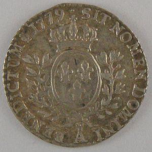 Photo numismatique Monnaies Royales Françaises LOUIS XVI (1774-1792) 1/20ème Ecu à la vieille tête