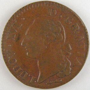 Photo numismatique Monnaies Royales Françaises LOUIS XVI (1774-1792) Sol du Béarn