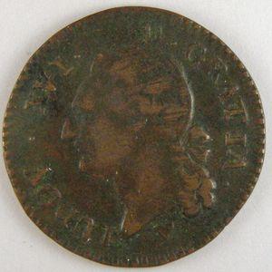 Photo numismatique Monnaies Royales Françaises LOUIS XVI (1774-1792) 1/2 Sol