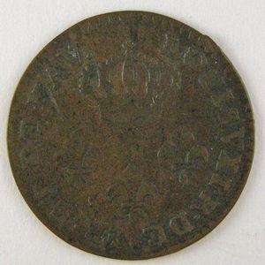 Photo numismatique Monnaies Colonies Françaises (Monnaies et Jetons) Guyane 2 Sous de Cayenne