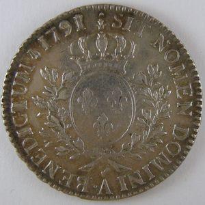 Photo numismatique Monnaies Royales Françaises LOUIS XVI (1774-1792) 1/2 Ecu