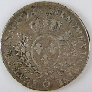 Photo numismatique Monnaies Royales Françaises LOUIS XVI (1774-1792) 1/2 Ecu
