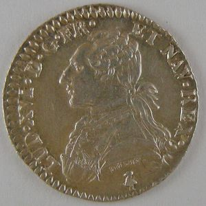 Photo numismatique Monnaies Royales Françaises LOUIS XVI (1774-1792) 1/10ème Ecu