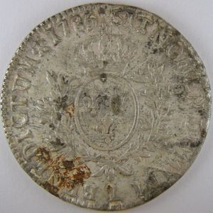 Photo numismatique Monnaies Royales Françaises LOUIS XVI (1774-1792) Ecu aux branches d'olivier