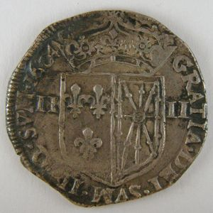 Photo numismatique Monnaies Royales Françaises HENRI IV (1589-1610) 1/4 Ecu de Navarre