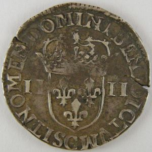Photo numismatique Monnaies Royales Françaises HENRI IV (1589-1610) 1/4 Ecu 5ème type