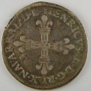 Photo numismatique Monnaies Féodales Seigneurie de Béarn Henri II (1572-1589)