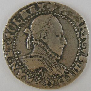 Photo numismatique Monnaies Royales Françaises HENRI III (1574-1589) 1/2 Franc