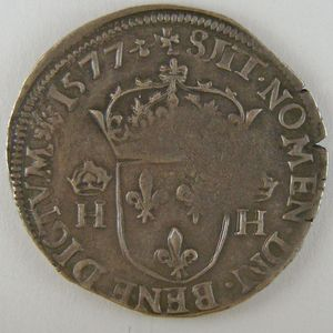 Photo numismatique Monnaies Royales Françaises HENRI III (1574-1589) Teston 1er Type