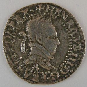 Photo numismatique Monnaies Royales Françaises HENRI III (1574-1589) 1/4 Franc