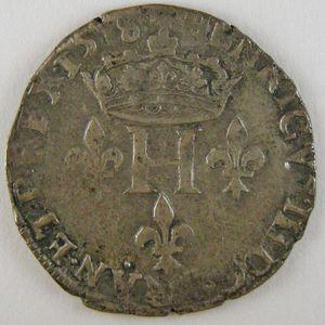 Photo numismatique Monnaies Royales Françaises HENRI III (1574-1589) Double Sol Parisis 2ème Type