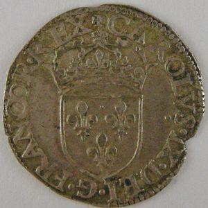 Photo numismatique Monnaies Royales Françaises CHARLES IX (1560-1574) Sol Parisis