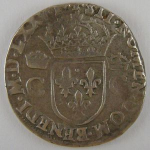 Photo numismatique Monnaies Royales Françaises HENRI III (1574-1589) Teston 8ème Type