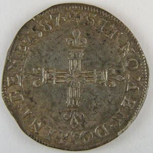Photo numismatique Monnaies Royales Françaises HENRI III (1574-1589) 1/4 d'écu