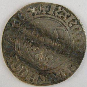 Photo numismatique Monnaies Royales Françaises CHARLES VI (1380-1422) Blanc Guénar