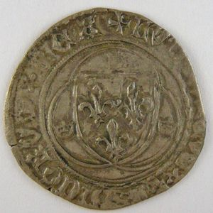 Photo numismatique Monnaies Royales Françaises LOUIS XI (1461-1483) Blanc à la couronne