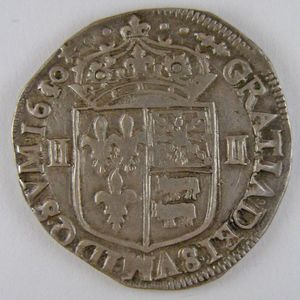 Photo numismatique Monnaies Royales Françaises LOUIS XIII (1610-1643) 1/4 Ecu du Béarn