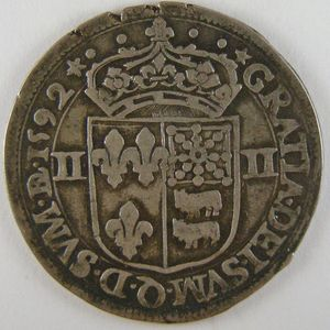 Photo numismatique Monnaies Royales Françaises HENRI IV (1589-1610) 1/4 Ecu du Béarn