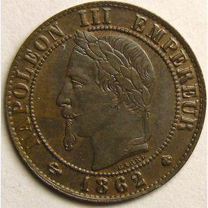 Photo numismatique Monnaies Françaises 1 Centime Gadoury 87. Napoléon III tête laurée
