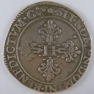 Photo numismatique Monnaies Royales Françaises HENRI III (1574-1589) Franc d'argent